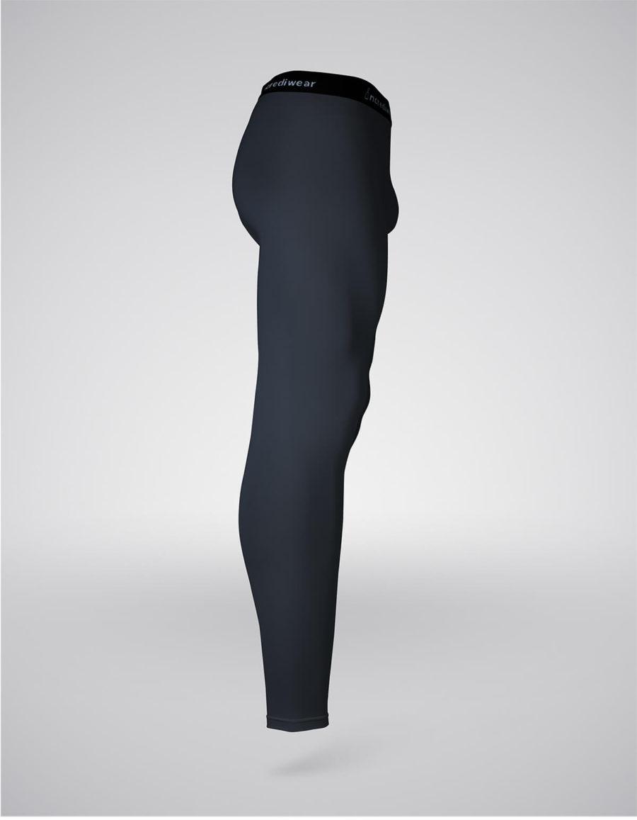 pantalón entrenamiento hombre negro lateral