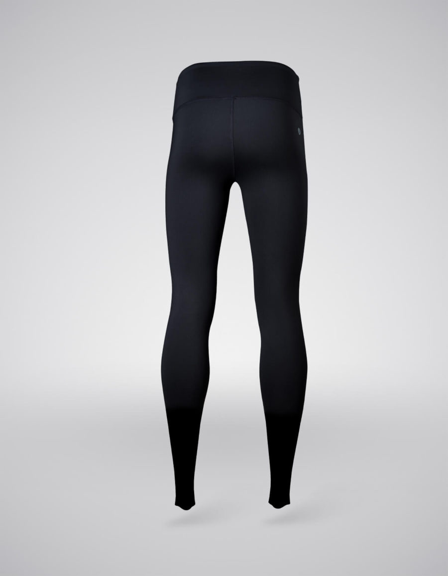 pantalon entrenamiento mujer negro trasera